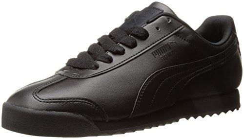 PUMA Men's Roma Basic Fashion Sneaker, Black/Black - 6 D(M) US