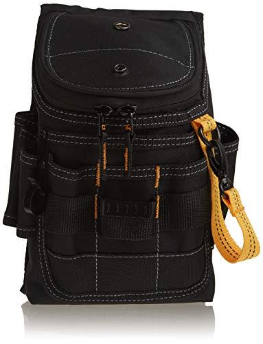 CLC Custom Leathercraft 1524 Ziptop Utility Pouch, Medium, Black, 11 Pockets