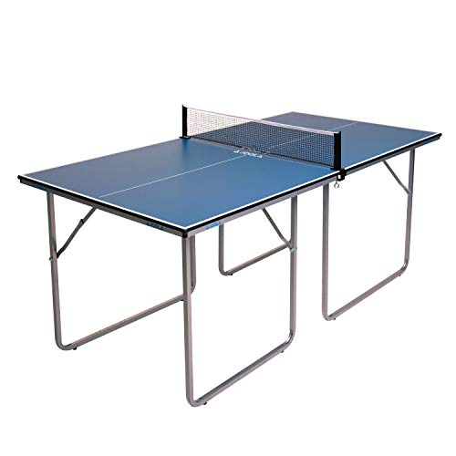 JOOLA Midsize Compact Table Tennis Table Great for Small Spaces and Apartments – Multi-Use Free...