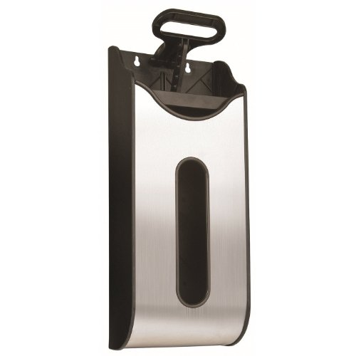 Save On Space 7050 Grocery Bag Holder Compactor, Wall Mounted, Stainless Steel