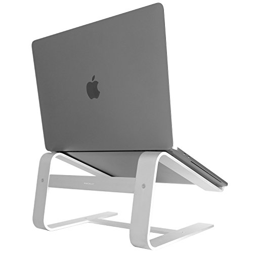 Macally Aluminum Laptop Stand for Desk - Works with all Macbook /Pro/Air & Laptops between 10 to...