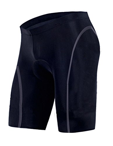 sponeed Padded Cycling Shorts Biking Shorts Gel Padded Tights Half Pants Asia XL/US L Black