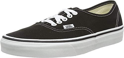 Vans Unisex Authentic Solid Canvas Skateboard Sneakers (6.5 D(M) US, Black)