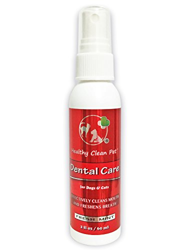 Healthy Clean Pet Dog Breath Freshener - All Natural Spray for Stinky Pet Breath - Food & Water...