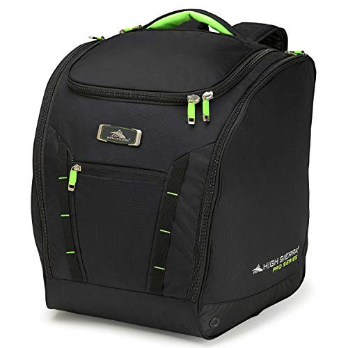 High Sierra Ski and Snowboard Deluxe Trapezoid Equipment Travel Boot Bag with S-Curved Straps and...