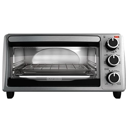 BLACK+DECKER 4-Slice Toaster Oven, TO1303SB, 14.5 x 8.8 x 10.8 inches 7.5 pounds, Stainless...