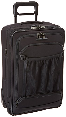 Briggs & Riley Transcend-Expandable Softside Carry-On Upright Luggage, Black, 22-Inch