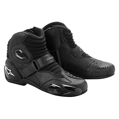 Alpinestars S-MX 1 Boots , Distinct Name: Black, Gender: Mens/Unisex, Size: 9.5, Primary Color:...