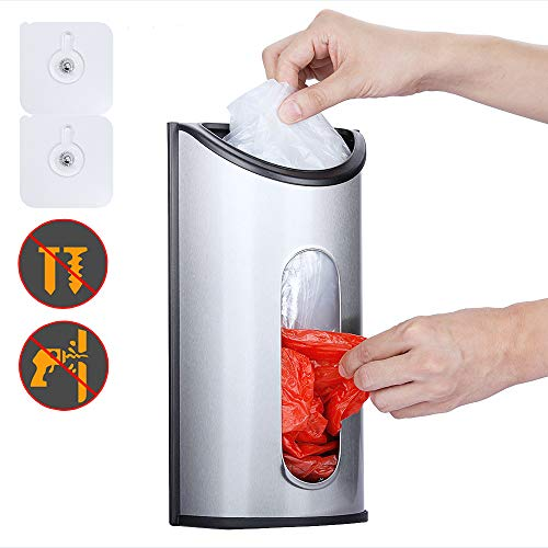 Magdisc Wall Mount Grocery Bag Holder, Bag Dispenser with Extra-Wide & Easy-Access Openings,...
