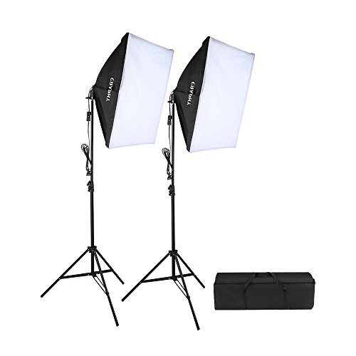 CRAPHY 700W 5500K Photography Studio Soft Box Lighting Kit Continuous Light Equipment for Portrait...