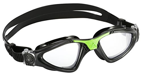 Aqua Sphere Kayenne Swim Goggles with Clear Lens, Black/Silver Frame