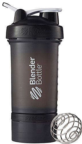 BlenderBottle Shaker Bottle with Pill Organizer and Storage for Protein Powder, ProStak System,...