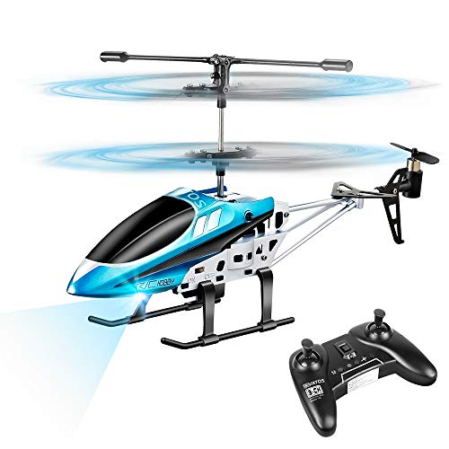 VATOS RC Helicopters, Remote Control Helicopter with Gyro and LED Light 3 Channel Alloy Mini...