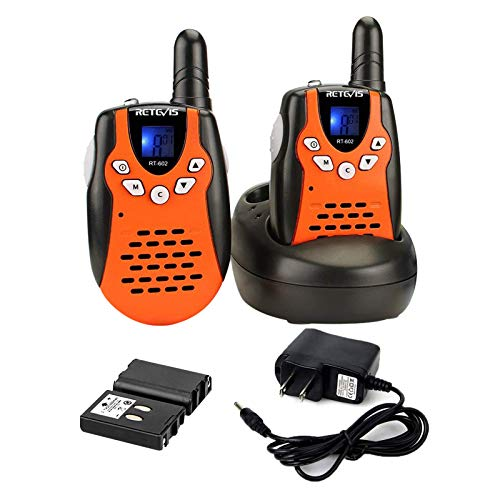 Retevis RT-602 Rechargeable Walkie Talkies with Charging Cable,22 Channel VOX Walkie Talkies for...