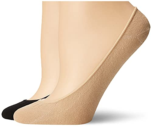 Hue Women's Hidden Cotton Sock Liners, 4 pair pack