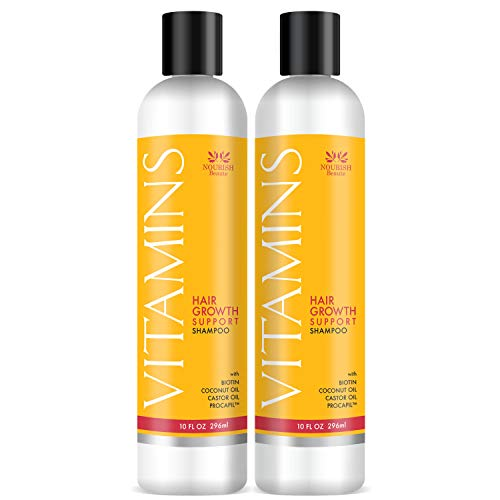Nourish Beaute Vitamins Shampoo for Hair Loss that Promotes Hair Regrowth, Volume and Thickening...
