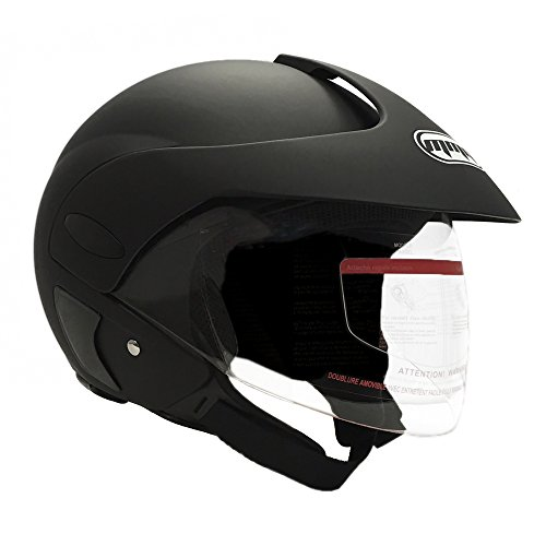 MMG Motorcycle Open Face Helmet DOT Street Legal - Flip Up Clear Visor - DOT and FMVSS218 Certified...