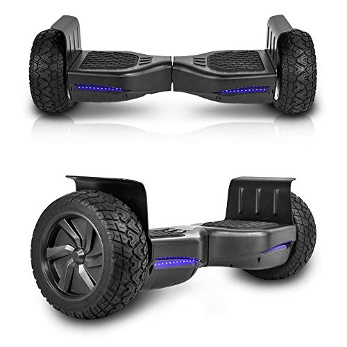 cho All Terrain Black Rugged 8.5' Inch Wheels Hoverboard Off-Road Smart Self Balancing Electric...