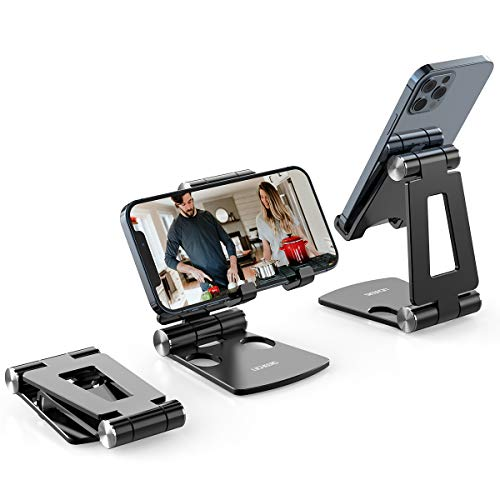 Cell Phone Stand,licheers Phone Stand for Desk, Foldable Phone Holder Compatible with All 4-7 Inch...