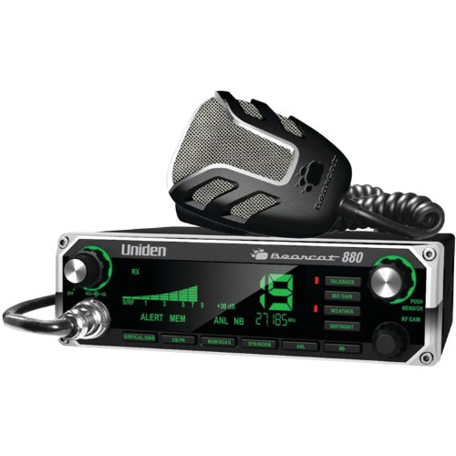 Uniden BEARCAT 880 CB Radio with 40 Channels and Large Easy-to-Read 7-Color LCD Display with...
