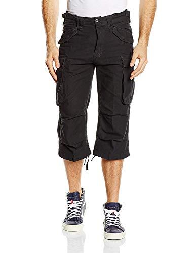 Brandit Men's Industry Vintage 3/4 Shorts Black Size M