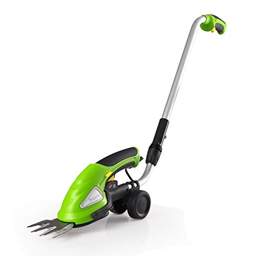 SereneLife Upgraded Hedge Trimmer Shears - Cordless Electric V2 - Push Grass Cutter W/ 3.6V...