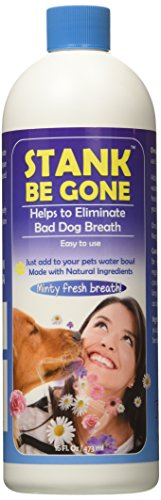 Stank Be Gone Dog Breath Freshener Dog Water Additive with Natural Ingredients. Eliminate Bad Dog...