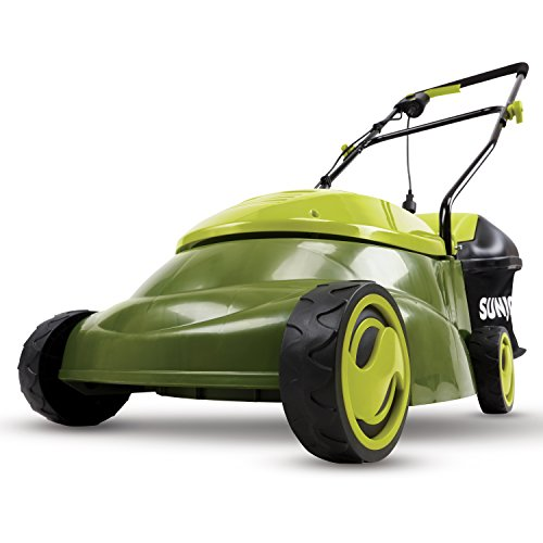 Sun Joe MJ401E 14-Inch 12 Amp Electric Lawn Mower with Grass Bag, Green