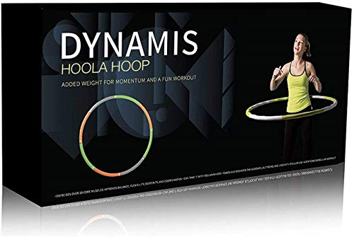 Dynamis Fat Burning Weighted Hoola Hoop - Premium Adult Fitness Exercise Hoop - Sports Core Trainer...