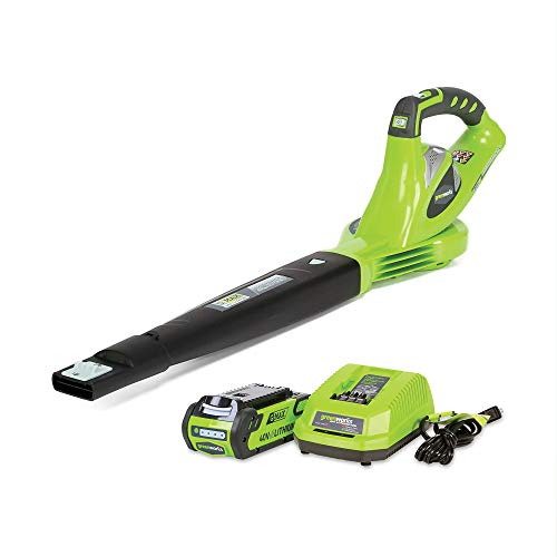 Greenworks 40V 150 MPH Variable Speed Cordless Leaf Blower, 2.0Ah Battery and Charger Included,...
