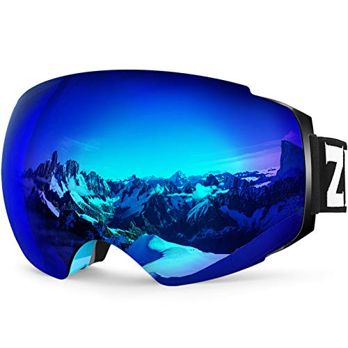ZIONOR X4 Ski Goggles Magnetic Lens - Snowboard Goggles for Men Women Adult - Snow Goggles Anti-Fog...