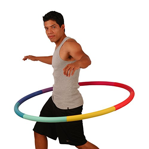 Sports Hoop Weighted Hoop, Weight Loss Trim Hoop 3B - 3.1lb (41 inches Wide) Large, Weighted Fitness...
