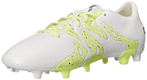 adidas Performance Women's X 15.3 FG/AG W Soccer Cleat,White/Silver/Yellow,5 M US