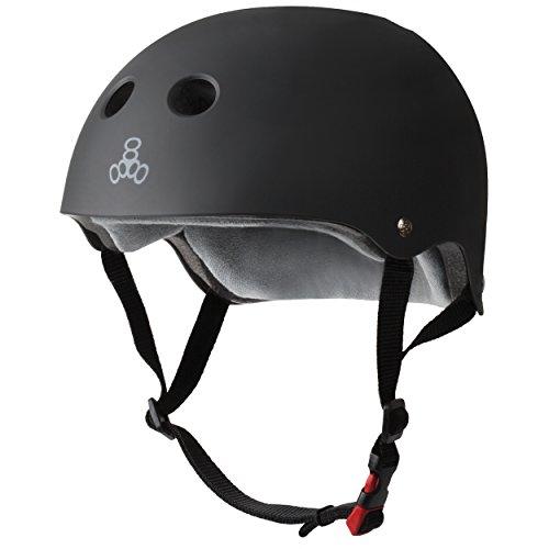 Triple Eight THE Certified Sweatsaver Helmet for Skateboarding, BMX, and Roller Skating, Black...