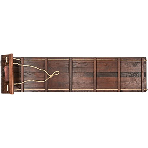 Lucky Bums Heirloom wooden tobogan snow sled, 48 inches