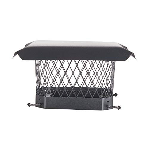 HY-C SC99 Shelter Bolt On Single Flue Chimney Cover, Mesh Size 3/4', Fits Outside Existing Clay Flue...
