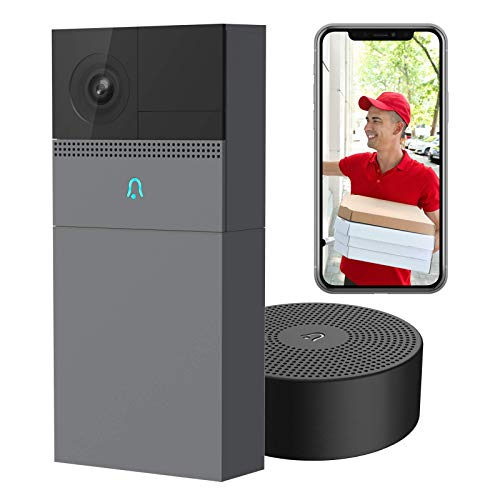 Laxihub WiFi Video Doorbell with Chime 1080P, B1 Rechargeable Battery Doorbell Camera for Home...