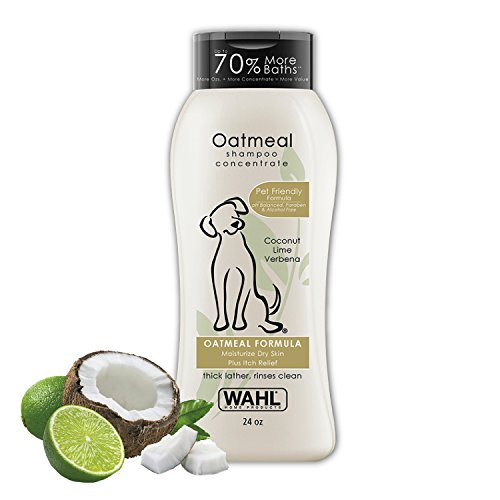 Wahl Dry Skin & Itch Relief Pet Shampoo for Dogs – Oatmeal Formula with Coconut Lime Verbena &...