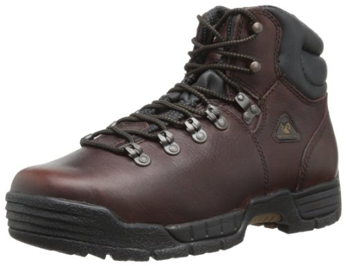 Rocky Men's Mobilite Six Inch Steel Toe Work Boot,Brown,12 W US