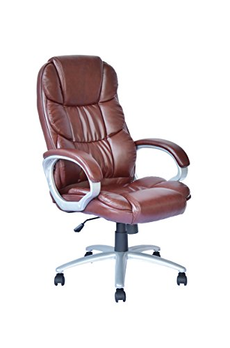 Ergonomic Office Chair Desk Chair PU Leather Computer Chair Task Rolling Swivel Executive Chair with...