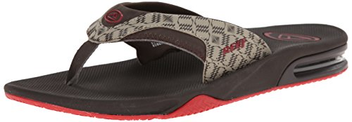 Reef Men's Fanning Prints Speed Logo Flip Flop, Tan Camo/Blue, 7 M US