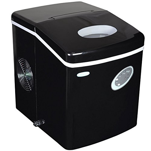 NewAir Portable Ice Maker 28 lb. Daily, Countertop Compact Design, 3 Size Bullet Shaped Ice,...