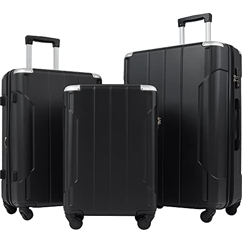 Merax Luggage Sets with TSA Locks, 3 Piece Lightweight Expandable Luggage with Reinforced Corner...