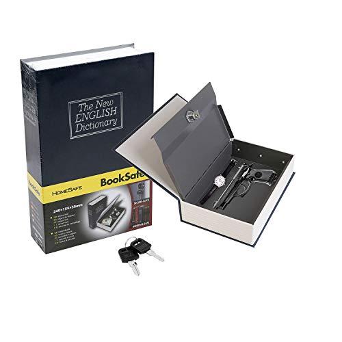 iMounTEK Book Safe with Lock and Key, Dictionary Diversion Safe, Hidden Safe Lock Box Steel, Safe...