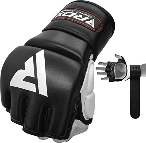 RDX MMA Gloves for Grappling Martial Arts Training,Approved by SMMAF, Genuine Cowhide Leather...