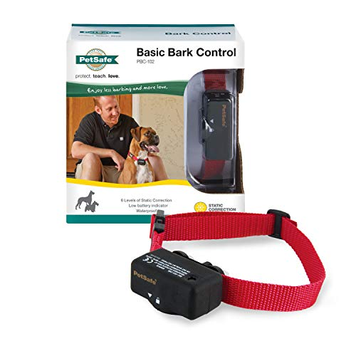 PetSafe Basic Bark Control Collar for Dogs 8 lb. and Up, Anti-Bark Training Device, Waterproof,...