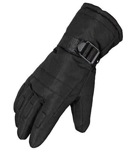 WATERFLY Mens Winter Gloves Snow Gloves Warm Waterproof Windproof Ski Gloves Snowmobile