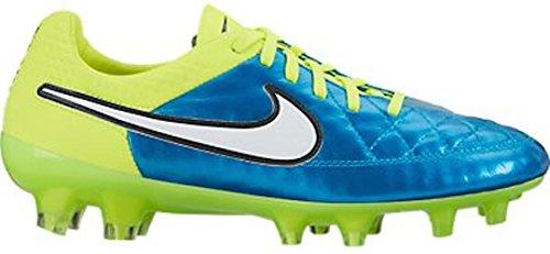 Nike Womens Tiempo Legacy FG Soccer Cleat (Blue Lagoon, Volt) Sz. 7.5