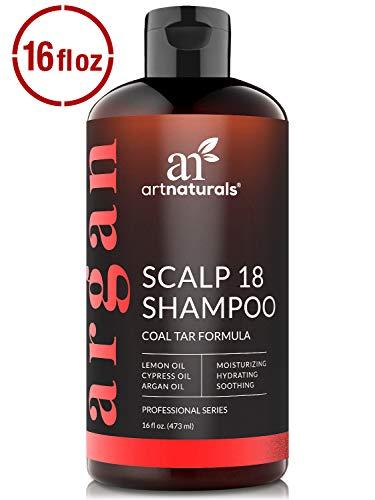ArtNaturals Therapeutic Argan Anti-Dandruff Shampoo - (16 Fl Oz / 473ml) - Natural and Organic Coal...