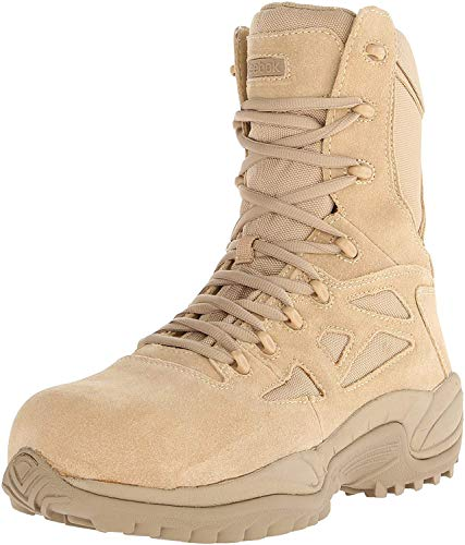 Reebok Work Men's Rapid Response RB8894 Safety Boot,Tan,10.5 M US